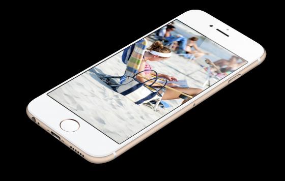 縦向きのiPhone(白のフレーム)